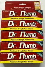 5X Dr Numb 5% Lidocaine Cream 30 gr Skin Numbing Tattoo/Removal Wax Exp 06/2022