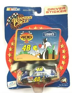 02 NASCAR Winners Circle 15850 Jimmy Johnson 48 Driver Sticker Loony Tunes 1:64