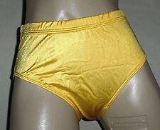NWT GK Elite Shiny Nylon Bikini sports cheerleading Brief Gold  S