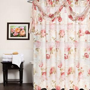 "Popular Bath Madeline Beige Collection Fabric 70"" x 72"" Bathroom Shower Curtain"