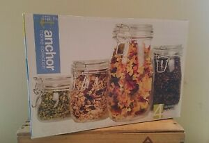 Anchor Home Collection/Anchor Hocking Clear Glass Canister Set