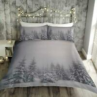 Grey Duvet Covers Christmas Sparkle Bling Festive Tree Quilt Cover Bedding Sets