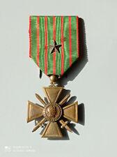 W10.O) Belle médaille croix de guerre 1914 1918 WW1 French medal