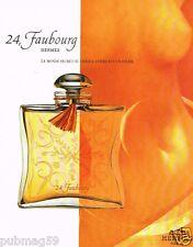 Publicité advertising 1997 Parfum 24,Faubourg par Hermès