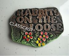 Rabbits on the Loose  - Rabbit hutch.  Pet signs.  Hutch sign.  Handmade!