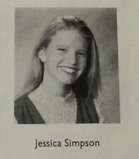 Jessica Simpson 9th Grade Jr. High School Yearbook Rare