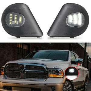 Xenon White LED Side Mirror Puddle Lights for Dodge Ram 1500 2500 3500 4500 5500