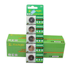 5PCS CR2025 2025 3V Coin Button Batteries Cell Battery For Watch Toys Remote DT5