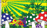 3x5 Trippy Mellow Mushroom Shrooms Weed Marijuana Flag 3'x5' Brass Grommets