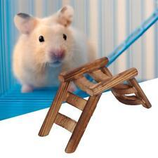 Funny Small Pet Training Bridge Toy Chew Hammock Wooden Hamster Ladder