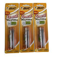 Bic Pencil Refills 2 Medium 7mm Lead Amp Erasers Set Of 3 New Sealed Packs