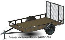 TRAILER PLANS - 6X10 UTILITY TRAILER PLANS