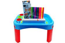 Tavolo da disegno per bambini banco scuola 25 accessori colori pennerelli