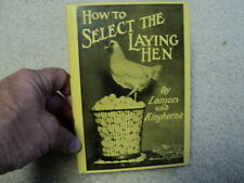 Vintage 1951 Book How to Select the Laying Hen by Lamon and Kinghorne 1951