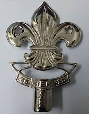 More details for genuine the scouts insignia polished chrome flag pole mount