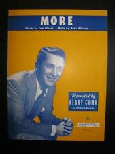 More Sheet Music Vintage 1956 Perry Como Alex Alstone Tom Glazer Voice Piano (O)