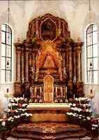 Kirchen Motiv-Postkarte Innenansicht Wallfahrtskirche in Todtmoos Schwarzwald