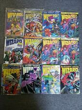Wizard Guide To Comics Magazine Lot  12 Issues