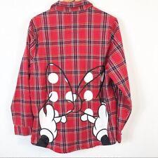 Cakeworthy Minnie Mouse Flannel Shirt Disney Tartan Small UK 8/10