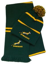South Africa Springbok Rugby Bobble Hat and Scarf  - Pinstripe