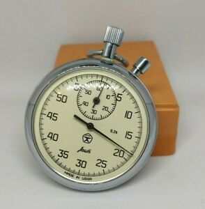 ussr mechanical stopwatch AGAT with 2 button + original box 100
