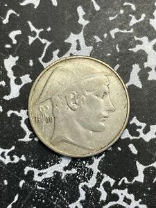 1950 Belgium 20 Francs Lot#X2525 Silver!