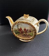 Sadler Hunting Scene Musical TeaPot Swiss Thorens Movement John Peel Read Desc