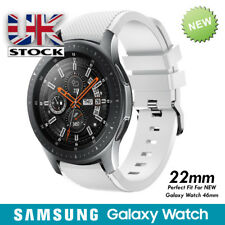 Samsung Galaxy 2018 Large (22mm) Silicone Band/Straps White)
