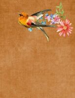 """perfect 24x36 oil painting handpainted on canvas """" a bird and flowers""""@N1451"""