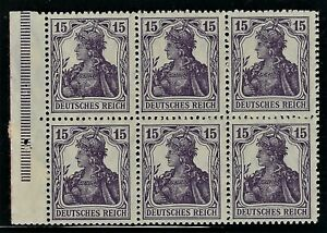 "GERMANY 1917 ""GERMANIA""  Booklet Pane  Broschurenfenster:  H-Blatt #15   Mint/NH"