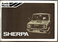 Leyland Austin Morris Sherpa 200 230 250 255 Original Handbook No. AKM 4490 1980