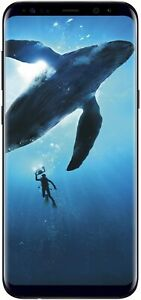 Samsung Galaxy S8 64GB Phone - 5.8in Unlocked Smartphone - Midnight Black (Renew