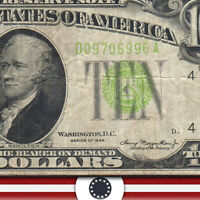1934 $10 CLEVELAND LGS Federal Reserve Note FRN Fr 2004-D  06996-P