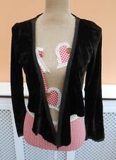 Principles brown velvet effect long sleeve tie front bolero shrug size UK 12