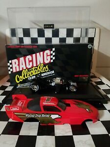 FUNNY CAR WINSTON DRAG RACING 1:24 DIECAST MINT IN BOX WITH DISPLAY CASE