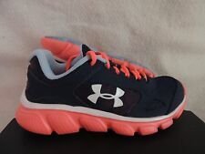 NIB GIRLS UNDER ARMOUR GGS ASSERT V SHOES~SNEAKERS~SIZE 5 Y~navy blue