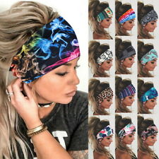 US Women Wide Sport Yoga Headband Hairband Elastic Wrap Turban Hair Stretch Band