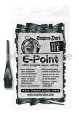 """Empire Dart Softdartspitzen - E-Point - 1/4"""" - lang - schwarz - 100 Stück"""
