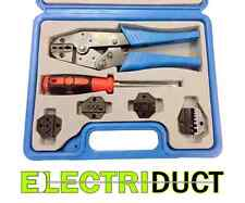 Ratcheting Terminal Crimping Kit with Carrying Case - Electriduct