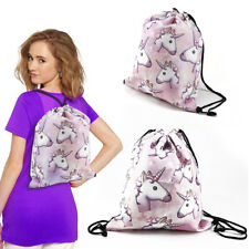 UNICORN BACKPACK GIFT IDEA Rucksack Bag Gym Laundry 3d Printing Drawstring Girl