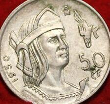 1930  MEXICO SILVER >> 1930  50 CENTAVOS SILVER COIN, EXTRA FINE Circulated COIN