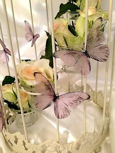 """Wedding Butterfly Table Drape Decorations 10 Sparkling Champagne Butterflies 3"""""""