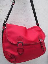 -AUTHENTIQUE grand sac bandoulière KESSLORD toile/cuir  TBEG vintage bag A4