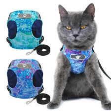 Cat Walking Harness Escape Proof Cat Harness and Lead Pet Puppy Cat Vest S-XL