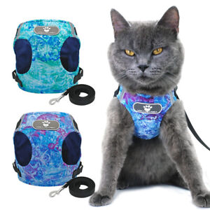 Cat Walking Harness Escape Proof Cat Harness and Lead Pet Puppy Cat Vest S-XL