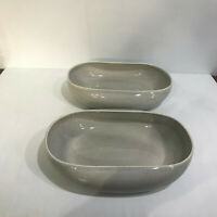 Russel Wright Steubenville American Modern Folded Edge Salad Bowls Gray 2