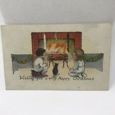 "Vintage Postcard Christmas 1923 ""wishing You A Happy Christmas "" Montfort WI"