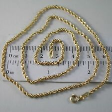 18k Yellow Gold Chain Necklace Braid Rope Mesh 23.62 In. Made in Italy