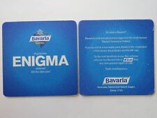 Beer Coaster ~ BAVARIA BREWERY Crown Lager from HOLLAND Since 1719 ~ Enigma Info