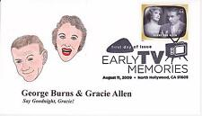 P M WAGNER HD/HP PMW CACHET FDC FIRST DAY COVER 2009 TV BURNS & ALLEN SHOW -AL